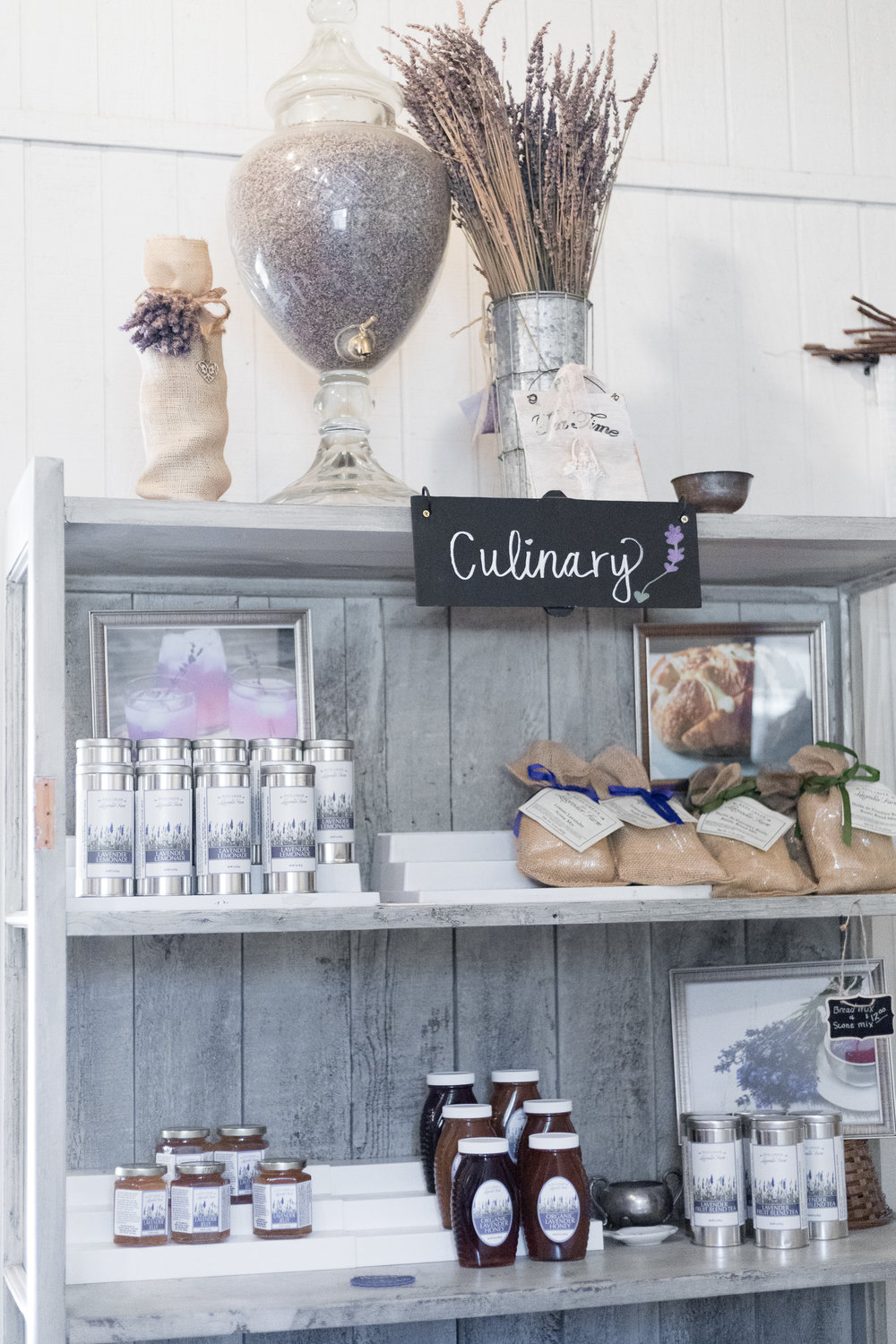 The culinary lavender shelf was one of my favorite shelves. I bought a container of dried culinary lavender…which means only one thing!  Lavender recipes! I will be sharing those with you over the next week.