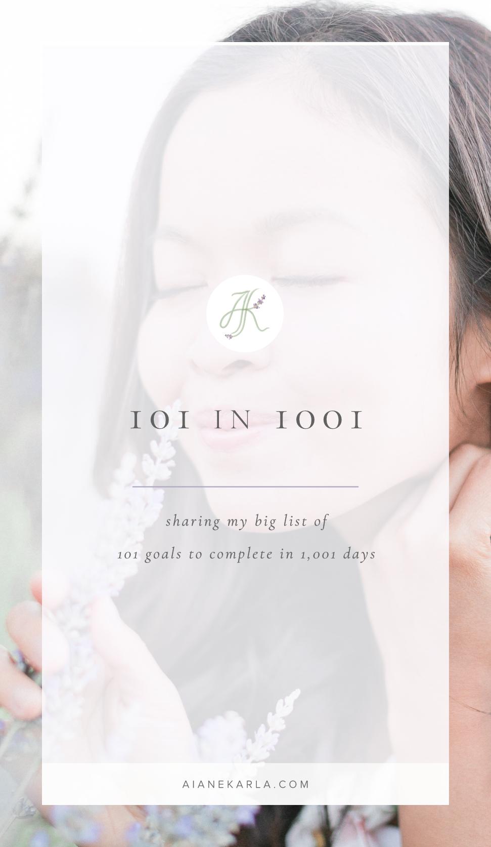 101 in 1001 | Aiane Karla | www.AianeKarla.com