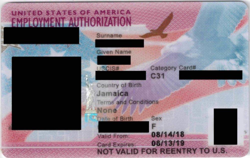 Employment Authorization (EAD) Card