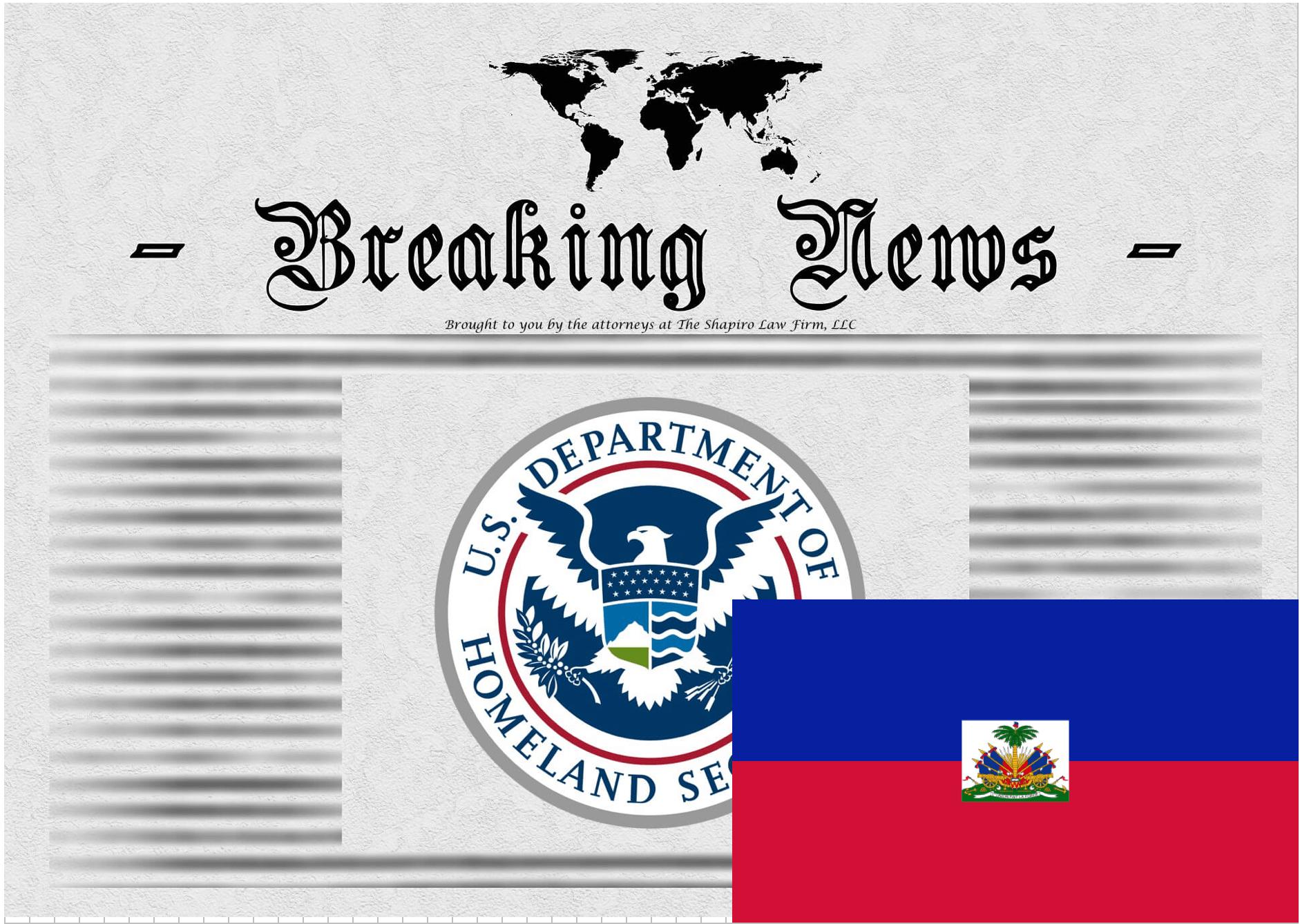 Breaking News Release from USCIS - Haiti TPS