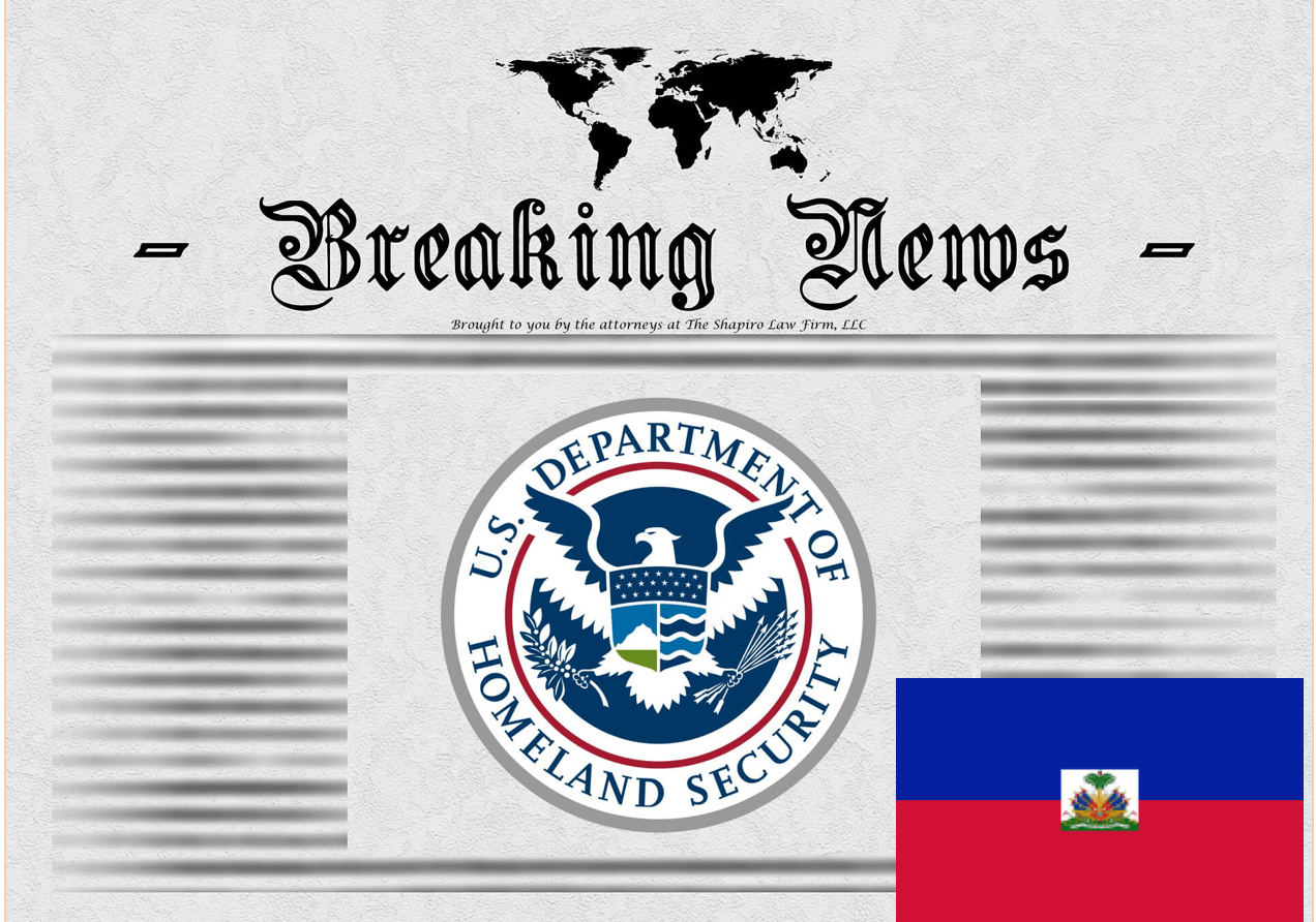 Breaking News Release from USCIS - Haiti TPS