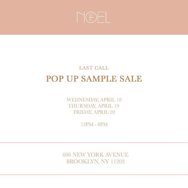 We know some of you were worried about how your favorite Fe Noel pieces would fit so we came up with a solution! Next week we'll be hosting a pop up shop with items from our online sample sale & additional items. See you there 💋