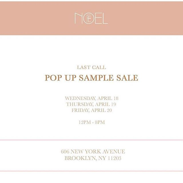 We know some of you were worried about how your favorite Fe Noel pieces would fit so we came up with a solution! Hosting a pop up shop with items from our online sample sale & additional items. See you there 💋