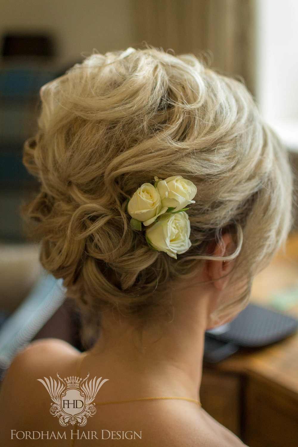 short hair updo wedding