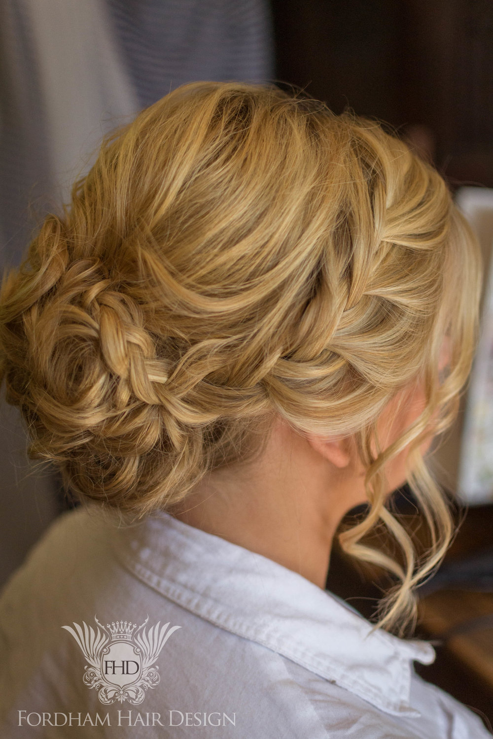 Plait updo wedding hair