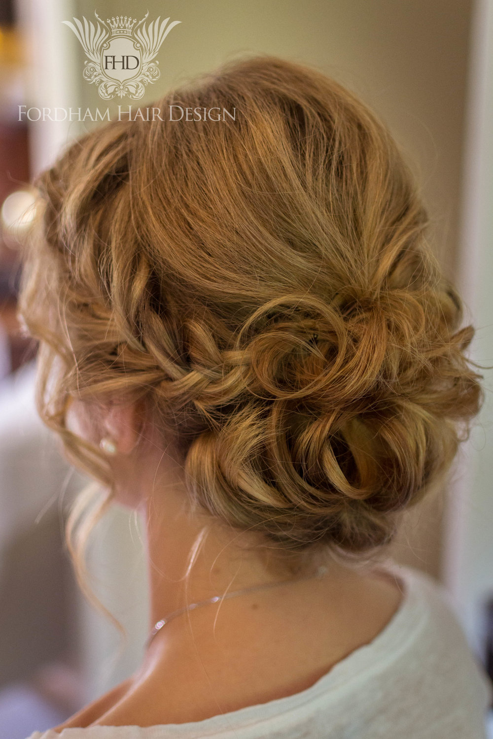 Relaxed Wedding Hair updo