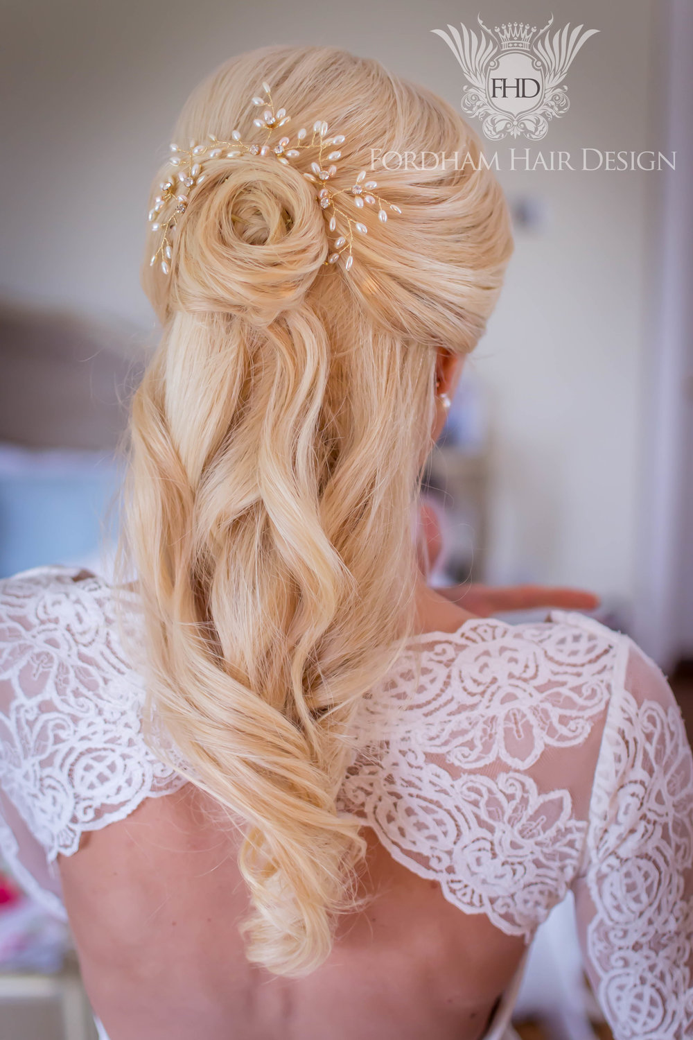Wedding Hair Great Tythe Barn