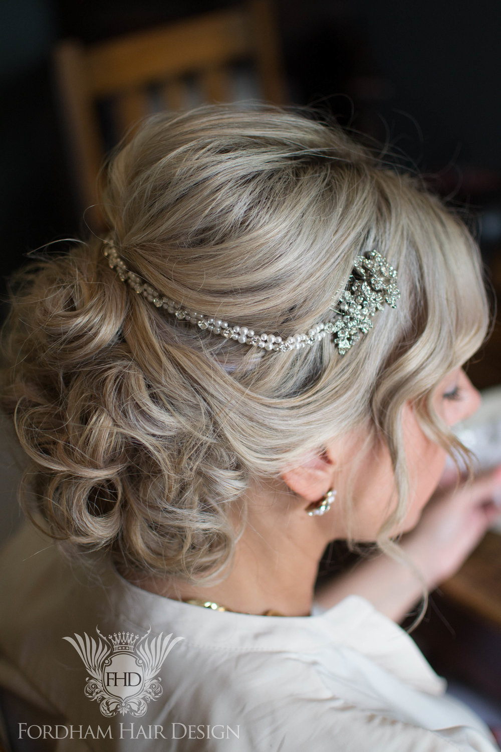 Wedding Hair Kingscote Barn
