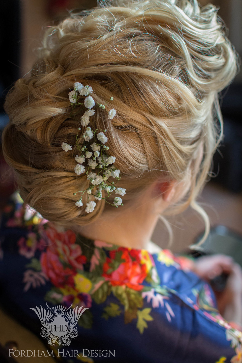 Barnsley House Wedding Hair