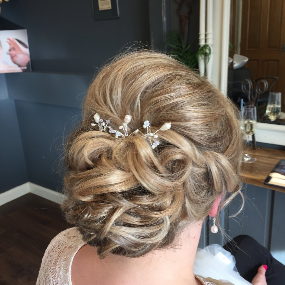 Hair up wedding