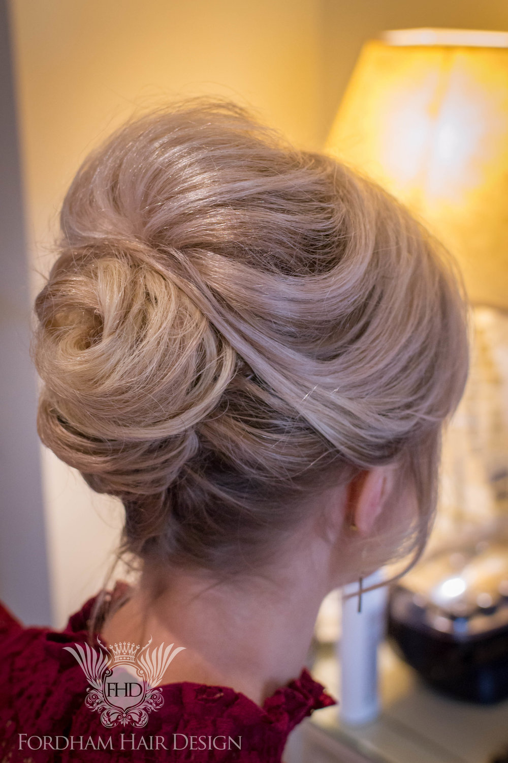 Classic tousled wedding hair