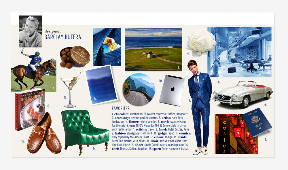 Barclay Butera Moodboard for CuratedKravet website