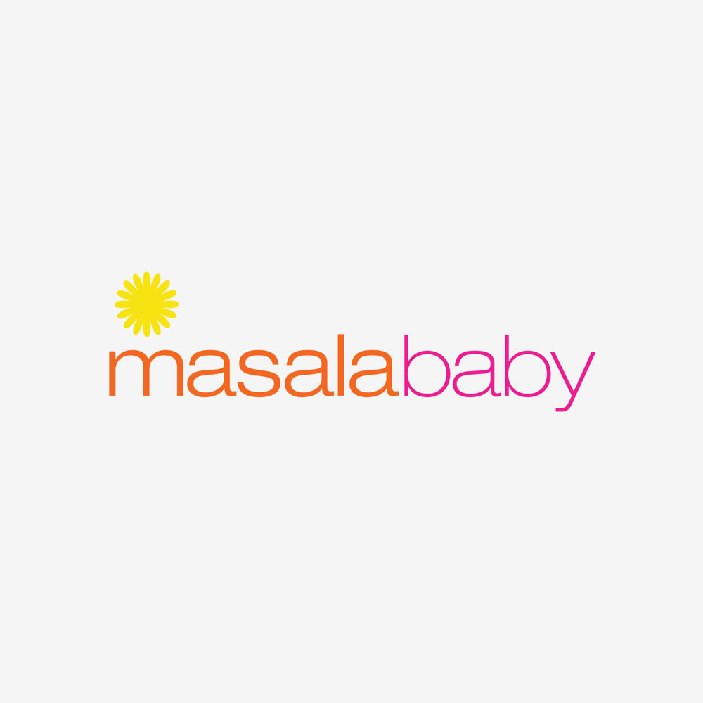 MasalaBaby - Logo for a baby+kids lifestyle brand based in NYC, that incorporates the rich culture of India with an urban city vibe.