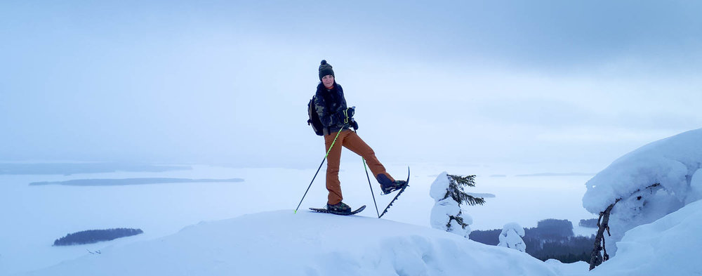 Lumikenkäilyä Ukko-Kolin laella.