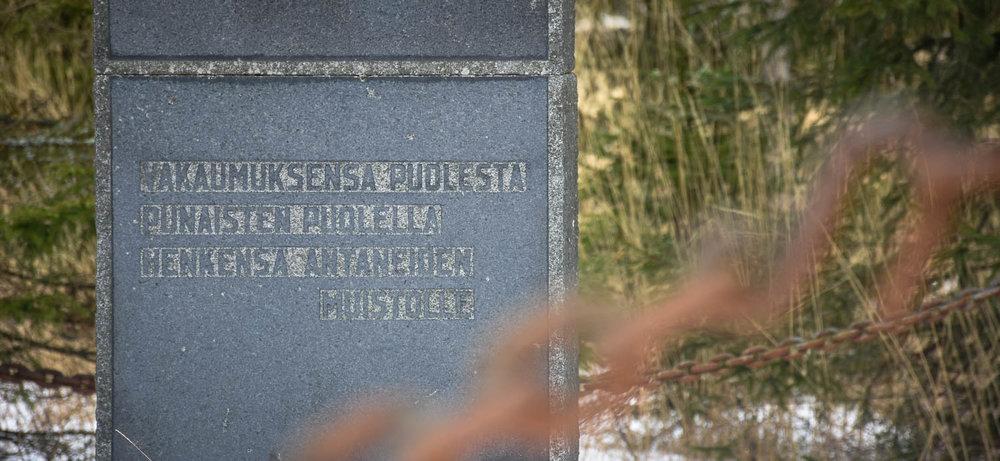 Sisällissodan muistomerkki.