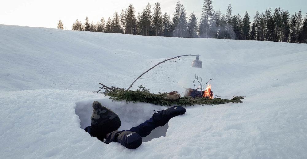 Lumikuopasta poistuminen ei ole aina helppoa.