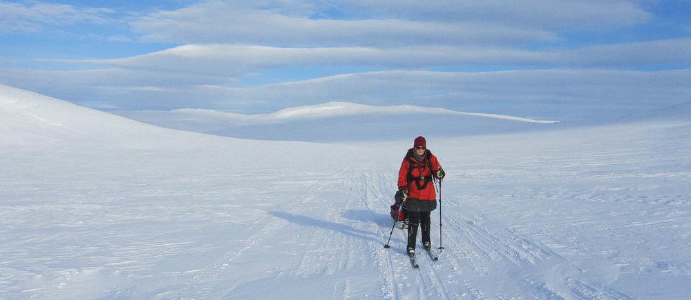 Suomen oloissa voi onneksi harjoitella Grönlannin matkaa varten.