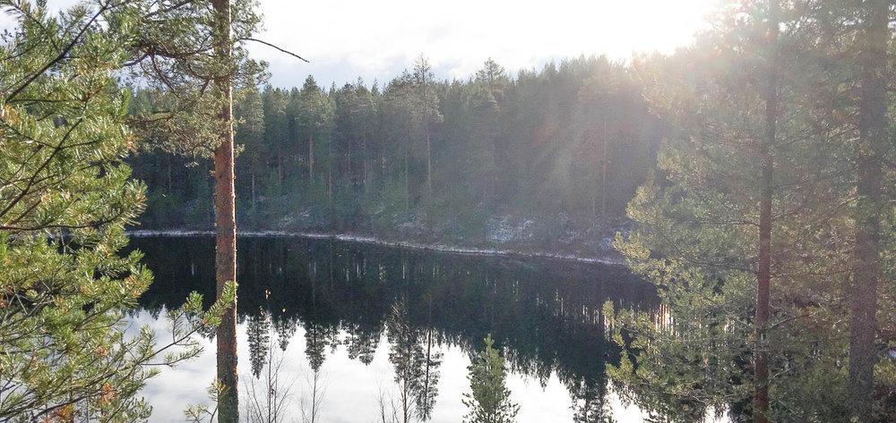 Harjun järvimaisemaa.