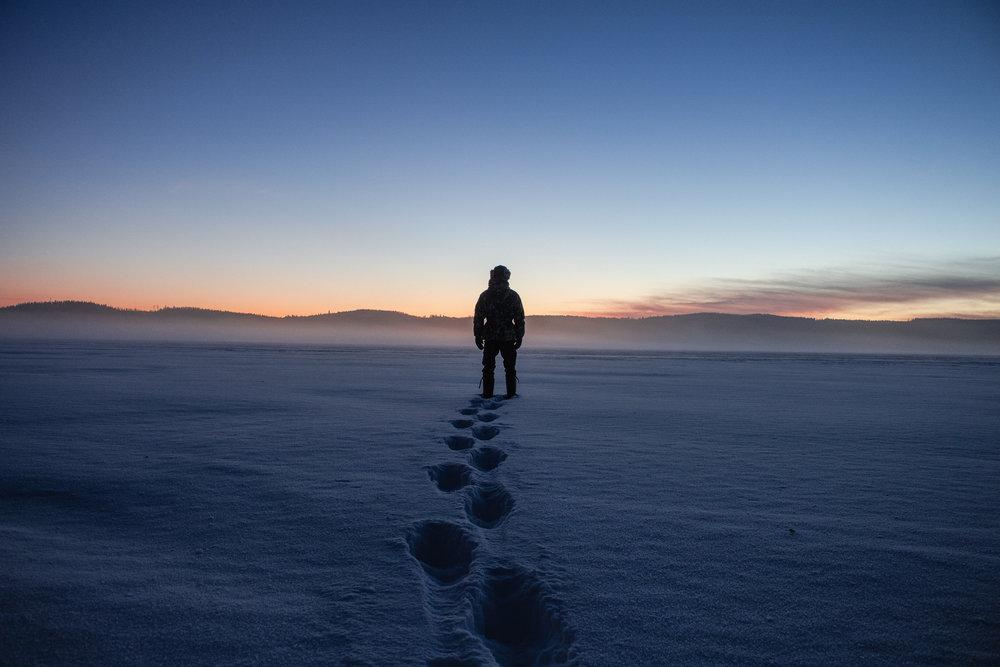 Sumua järvenselällä.