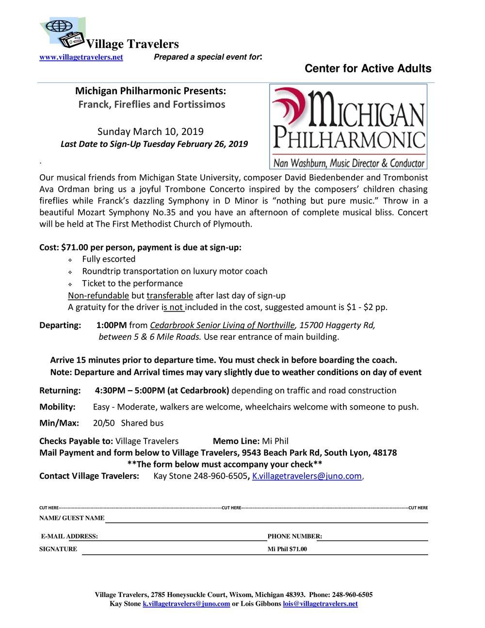 Michigan Philharmonic Presents: Franck, Fireflies, and Fortissimos