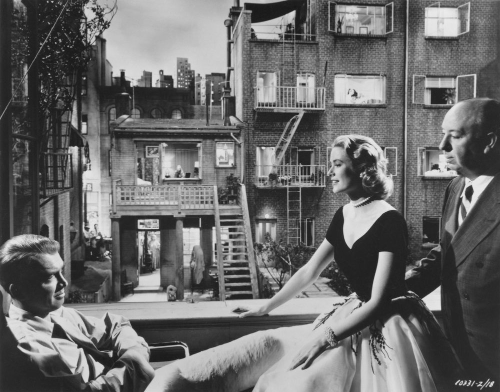 Behind the scenes of  Rear Window (1954, Alfred Hitchcock)