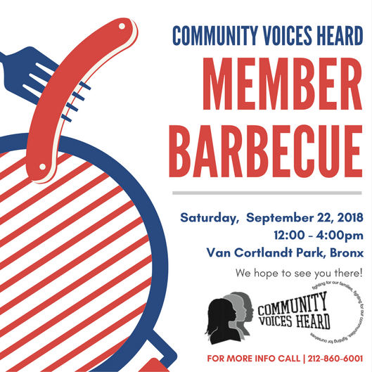 It's that time of year  - For the CVH Meber BBQ!This year's will be held on September 22, 2018 at Van Cortlandt Park in the Bronx from 12-4 pm. Hope to see you there!