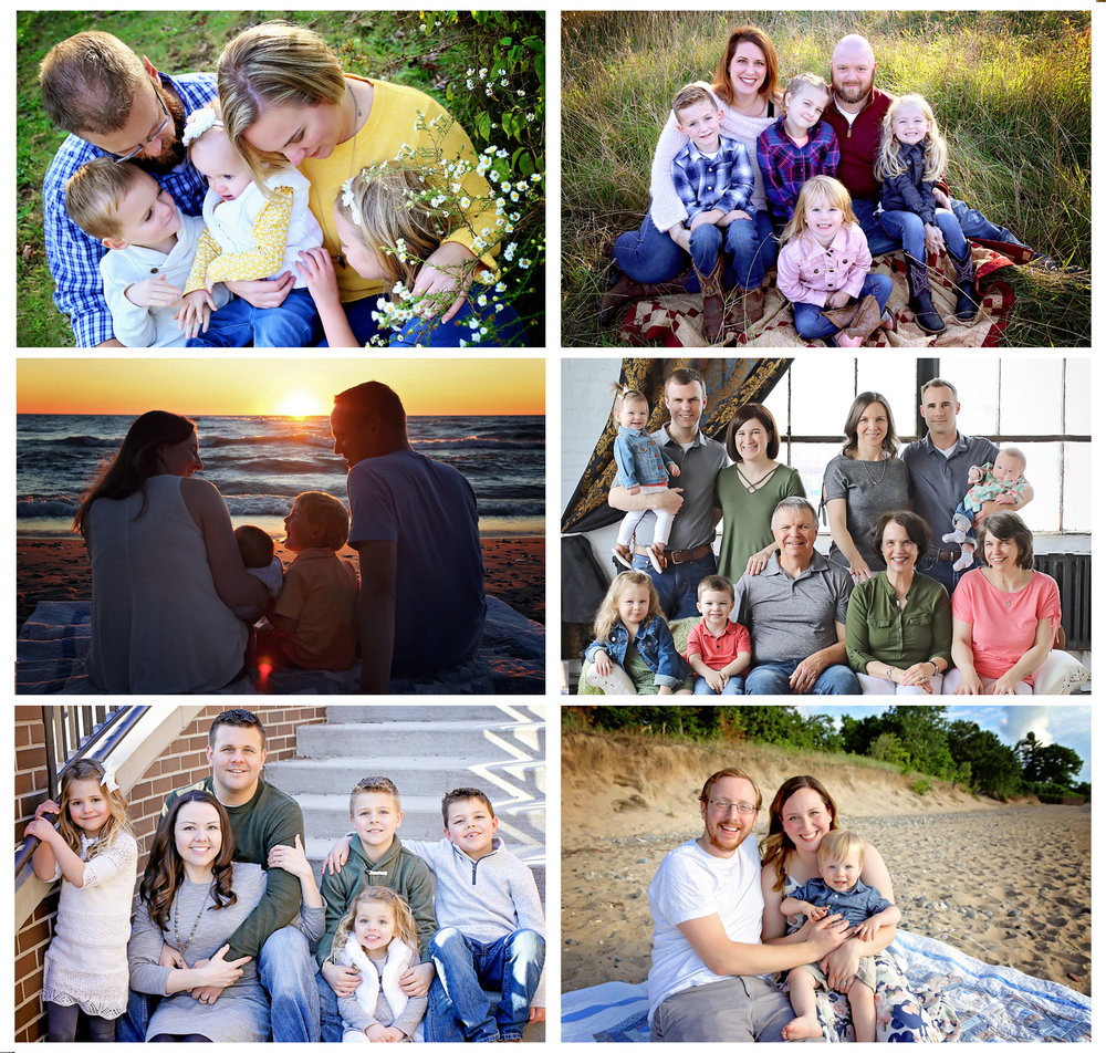 Family Session - Family lifestyle/posed combination sessions in home, on location, or in the studio. Family sessions are for up to two adults and up to four children and will include group shots, shots of parents together, individual children, siblings together, and individual children with each parent. For extended family sessions, add $25 per each additional person over 6 to the session fee.·$475 Session Fee·$150 Print Credit·45 - 90 minute session time average