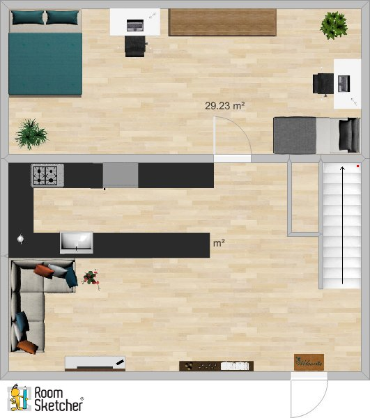 3b/2b 1st Floor Plan -