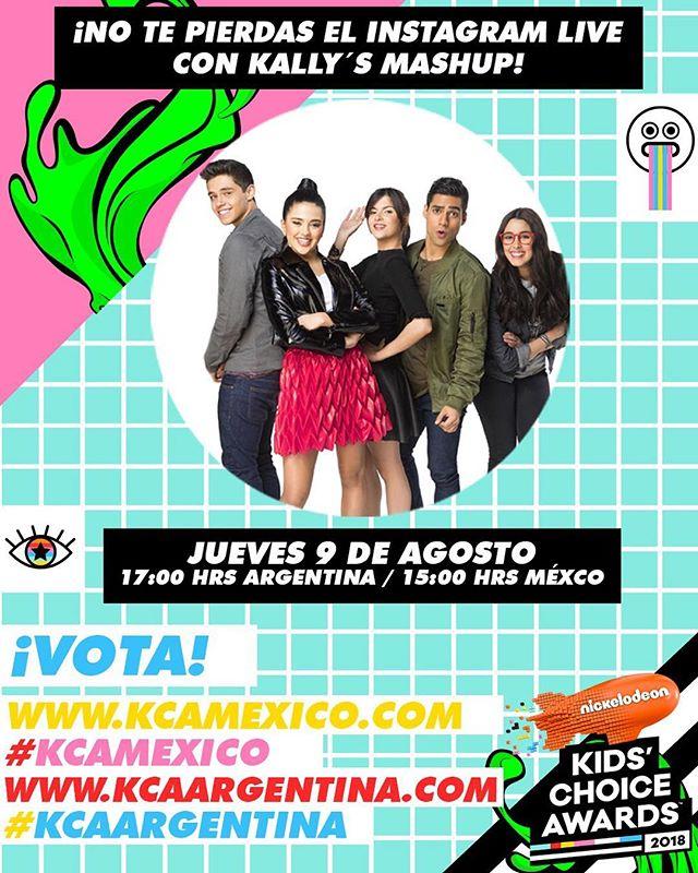 🚨 ¡Alerta Kallysta! 🚨 9 DE AGOSTO a las 5 PM ARG – 3 PM MEX/COL: Instagram live en @MUNDONICK con el cast de #KallysMashup para preparanos para los #KCAMexico y #KCAArgentina! ¡Nos vemos ahí! 😎 — 🗳 Mientras, sigamos votando en Nick Play y en KCAMexico.com y KCAArgentina.com. 🎟 Gana entradas - link en bio ⬆️