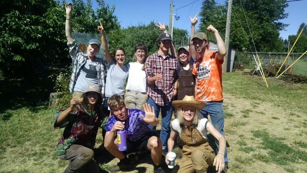 Tuesday farm crew feelin' proud