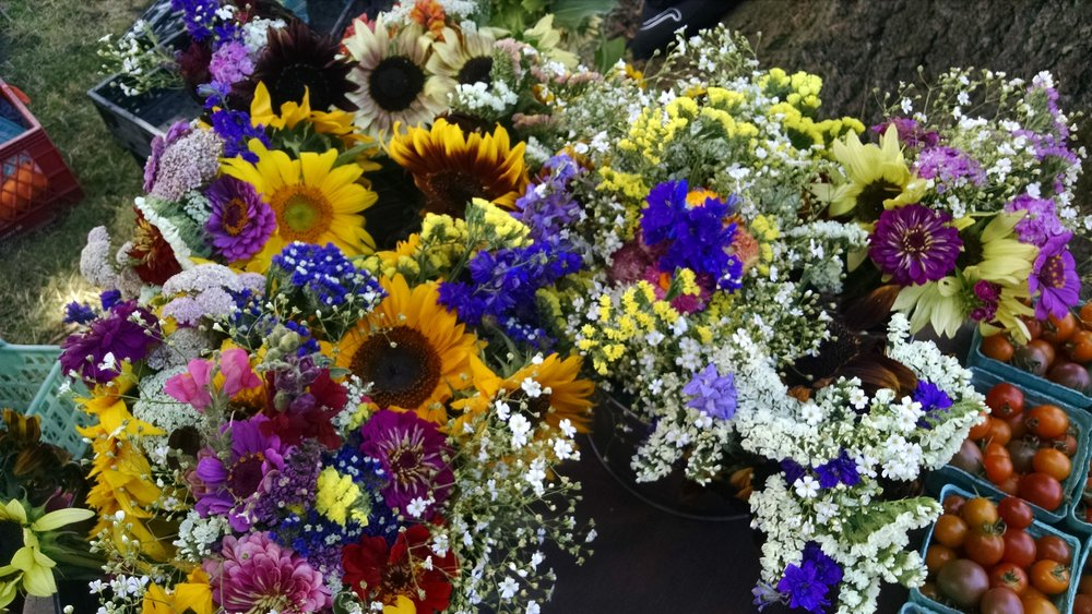 Organic flower bouquets
