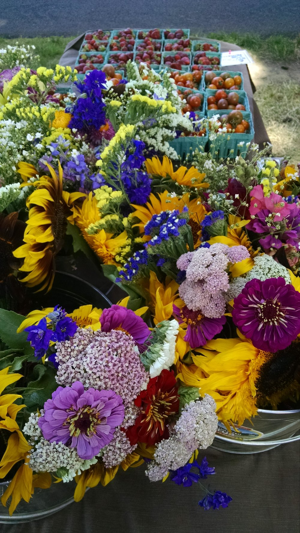 Flower season arrives at the farm stand