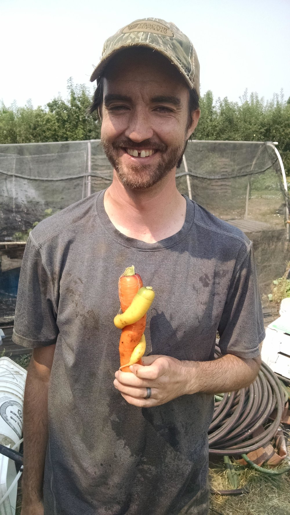 Phil with some super cool rainbow carrot lovers