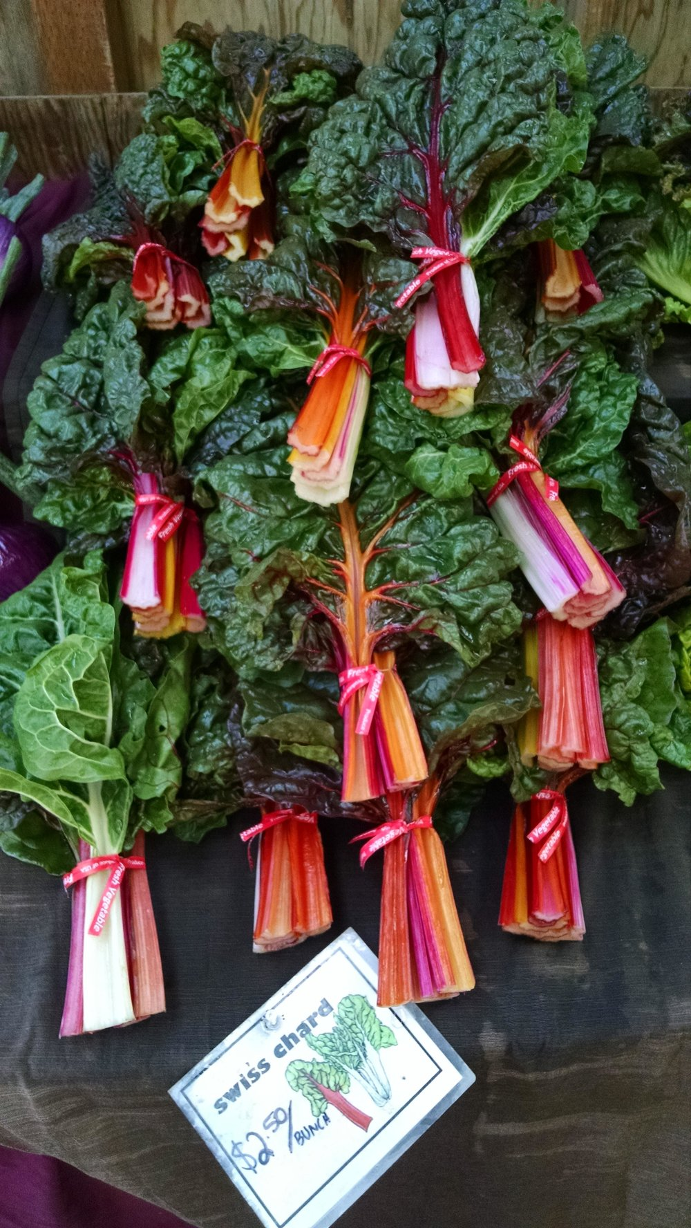 Swiss chard display