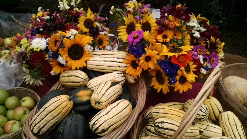 Delicata and flowers