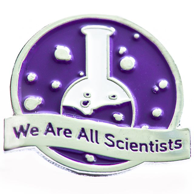 Available now for $15! Help support us (and look snazzy) with this awesome pin!! Link in our bio! . . https://femstem.com/new-products?tag=pin . . #womeninstem #stem #enamelpin #pin #softenamel #softenamelpin #science #scientist #beaker #design #purple #white #womeninscience