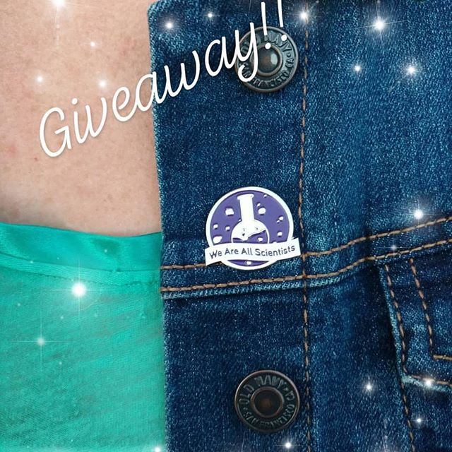#REPOST from @ritternic!! She's holding a giveaway for our pin! How sweet is that?! Go to her page to find out how you can win one! #science #stem #womeninstem #pin #giveaway #enamelpin