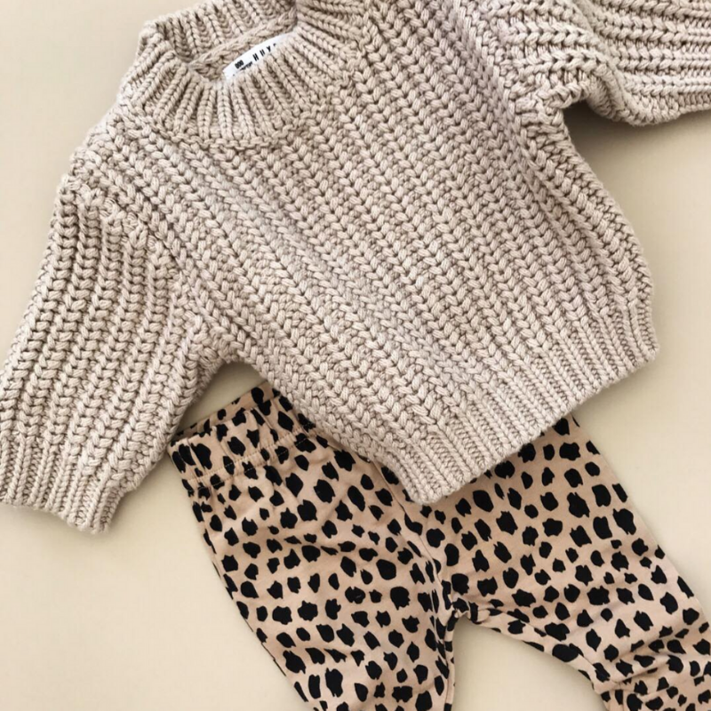 Huxbaby Biscuit Chunky Knit Jumper (Pic via @huxbaby Instagram)  $74.95