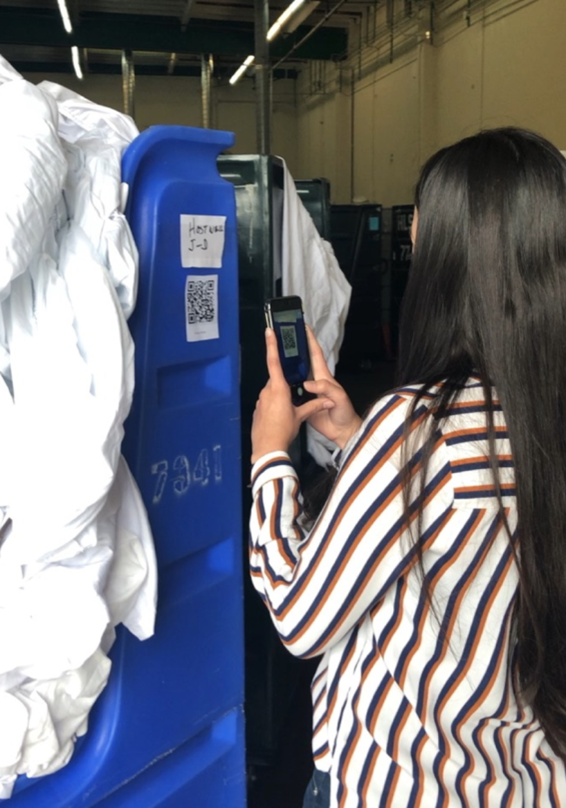 5. Prototype & Test: A QR-code based inventory tracker on laundry bins