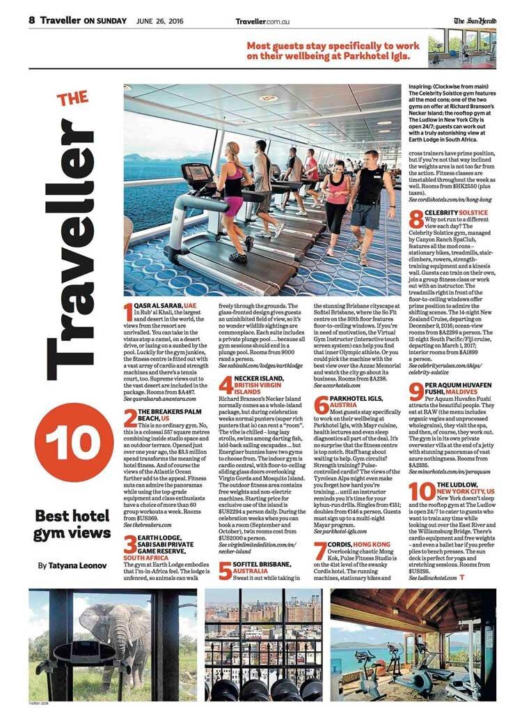 Best Hotel Gym Views — Tatyana Leonov