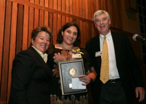 Sandy Barbour, Kristin Heaston, and Chris Carpenter