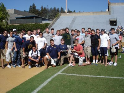 The awesomely successful Cal Rugby Team