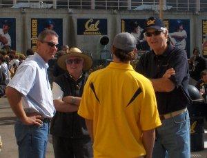 Coach Ed Miller, Verne Thornburg, and Chris Carpenter
