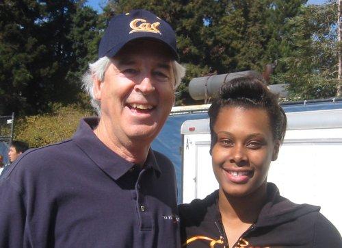 Chris Carpenter, Big C Society Vice President Devanei Hampton, Women's Basketball