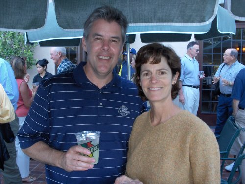 Mary Pastore and her drinking companion  Gregg Thornton, Past President Big C Society