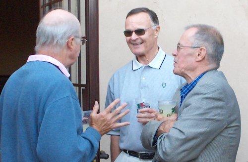 John Ricksen (center)  Hugh Ditzler (right)