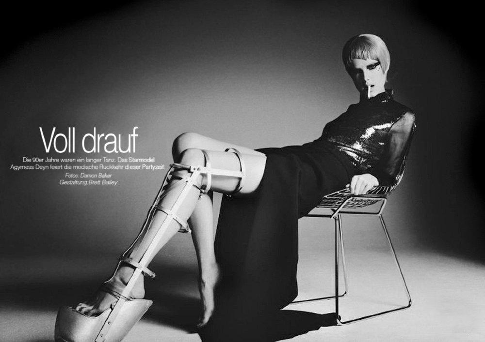 Metal Leg Brace - Agyness Dean
