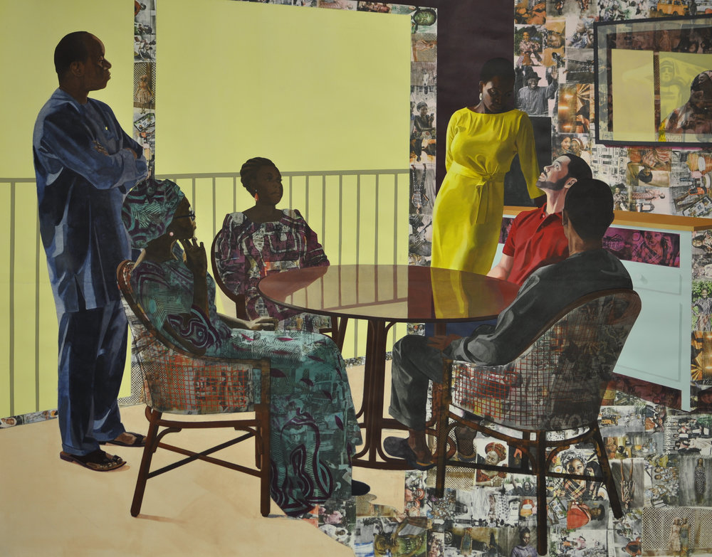 """I Still Face You"" by Njideka Akunyili Crosby"