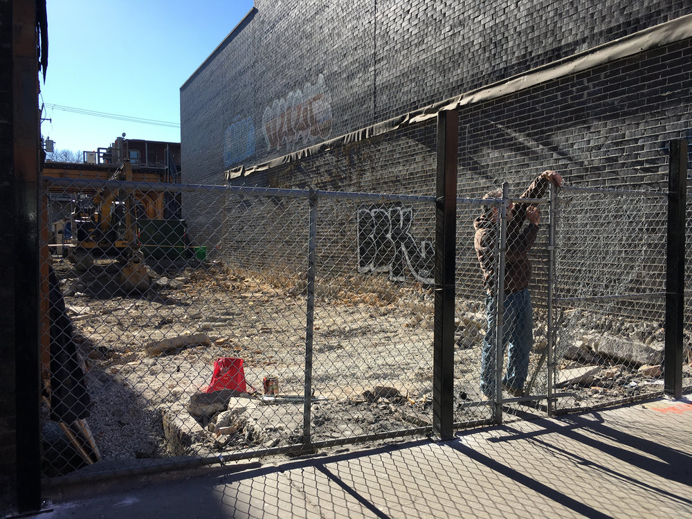 Construction sites on every block mark the growth of Wicker Park.    Photo by Audrey Valbuena