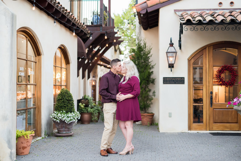 Downtown Fairhope Engagement Photoshoot by Kristen Grubb Photography